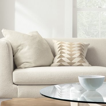 white sofa set Clean living room